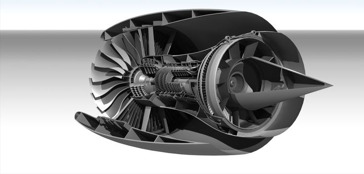 2-Spool High Bypass Turbofan - STEP / IGES,STL,CATIA - 3D CAD model - GrabCAD