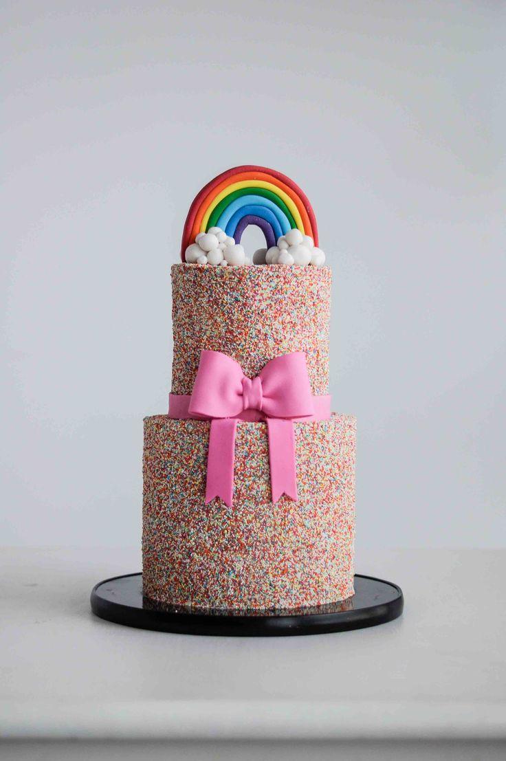 Rainbow Celebration Cake by LionHeart