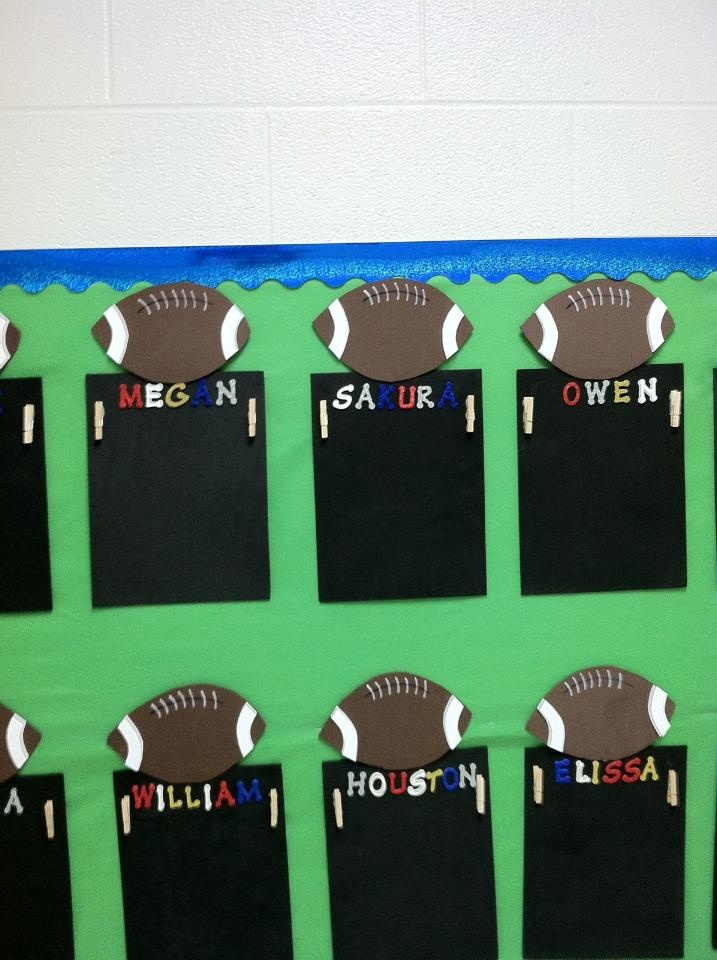 Display for Student Work - goes with the sports theme in my classroom
