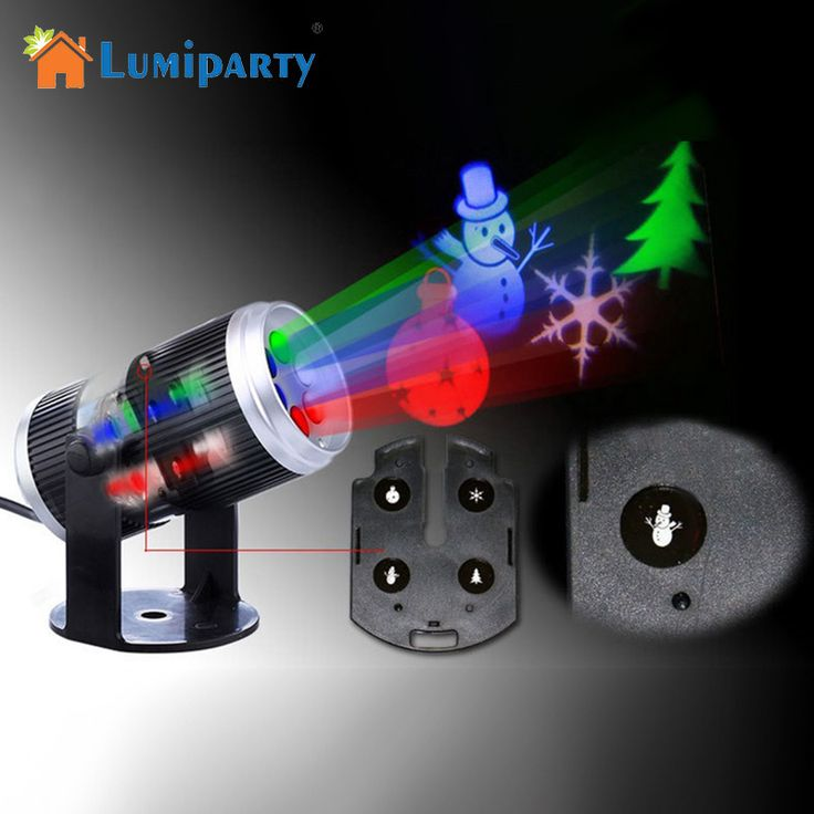 US$17.72  <Feb only, 15% - 95% off> LumiParty 6 Types Holiday Decoration Stage Light Christmas Party Laser Snowflake Projector Outdoor LED Disco Light  For Home **  #CommercialLighting