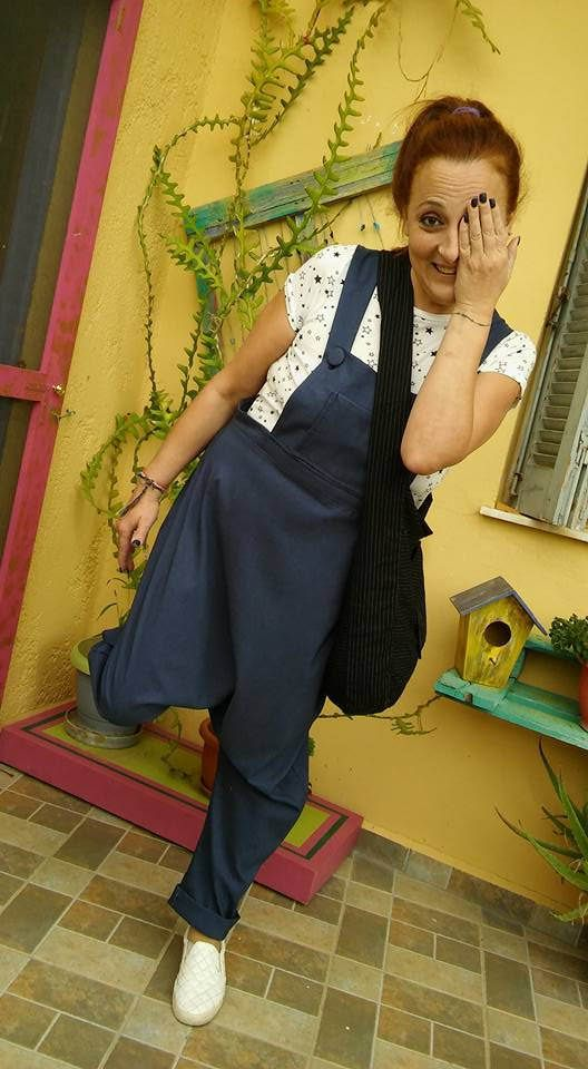 handmade overall,jumpsuit, low crotch