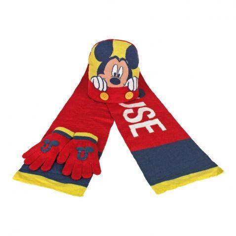 Mickey Mouse - Šála, rukavice a čepice