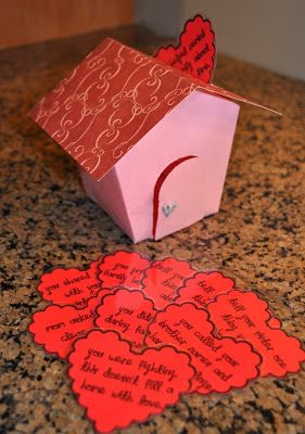 Little LDS Ideas: 'Fill Our Home with Love': a Family Home Evening Idea  (worked great with my eager 4yo!)