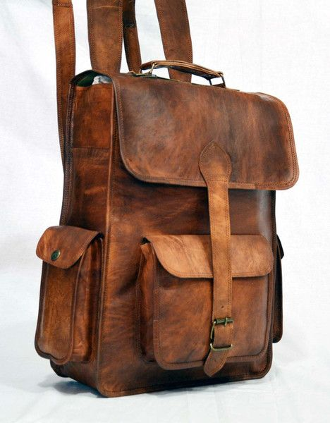 handmade vintage leather laptop rucksack backpack, vintage backpack for laptops uk, leather rucksack, leather rucksack bags, leather luggage