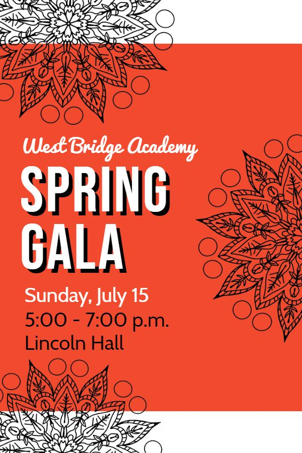 Hall P Template | Spring Gala Banquet Invitation Poster Template Banquet Invitation