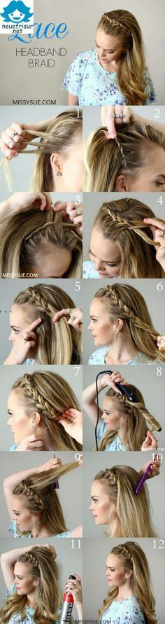 hair styles with braiding hair best 25 headband hair ideas on scarf 4358 | b033b4358e1531a947eb7be310643f62