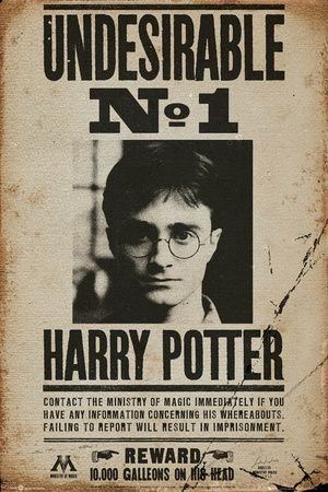 Poster Harry Potter Undesirable N°1 Harry Potter affiches sur AllPosters.fr
