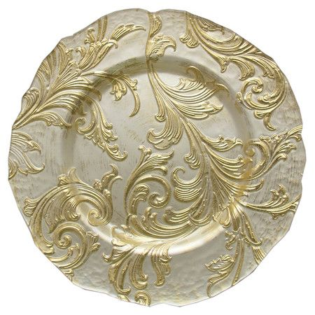 Vanessa Charger Plate in Gold at Joss and Main