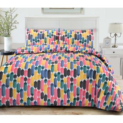 Geo Duvet Cover Set - Multi