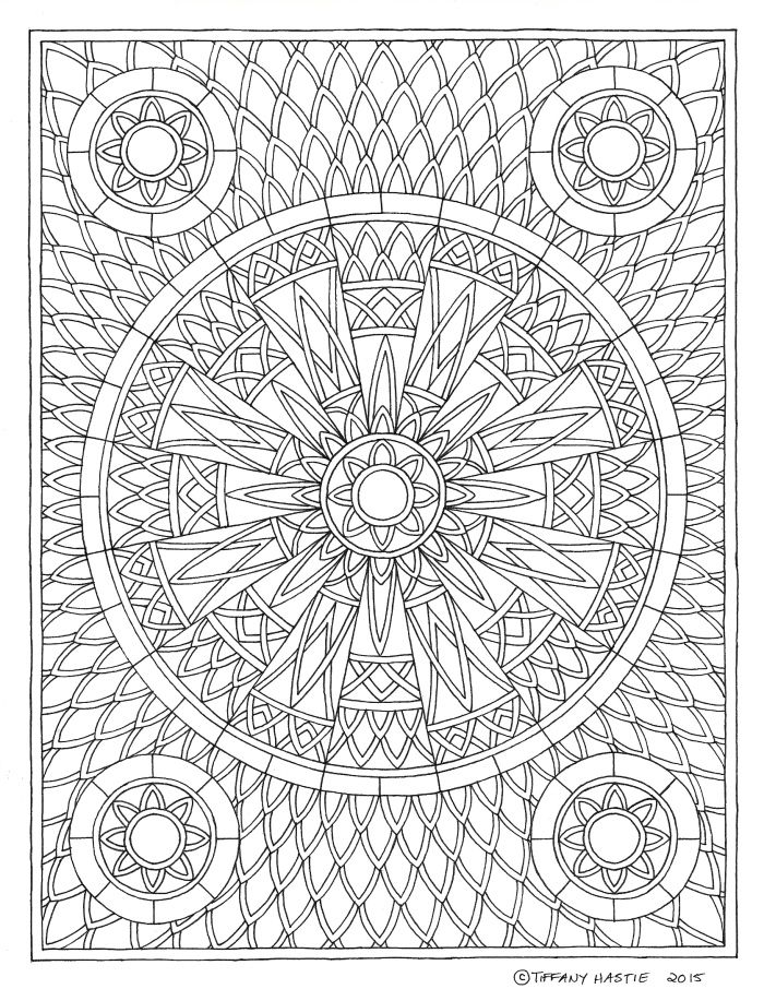 square mandala coloring pages - photo#24