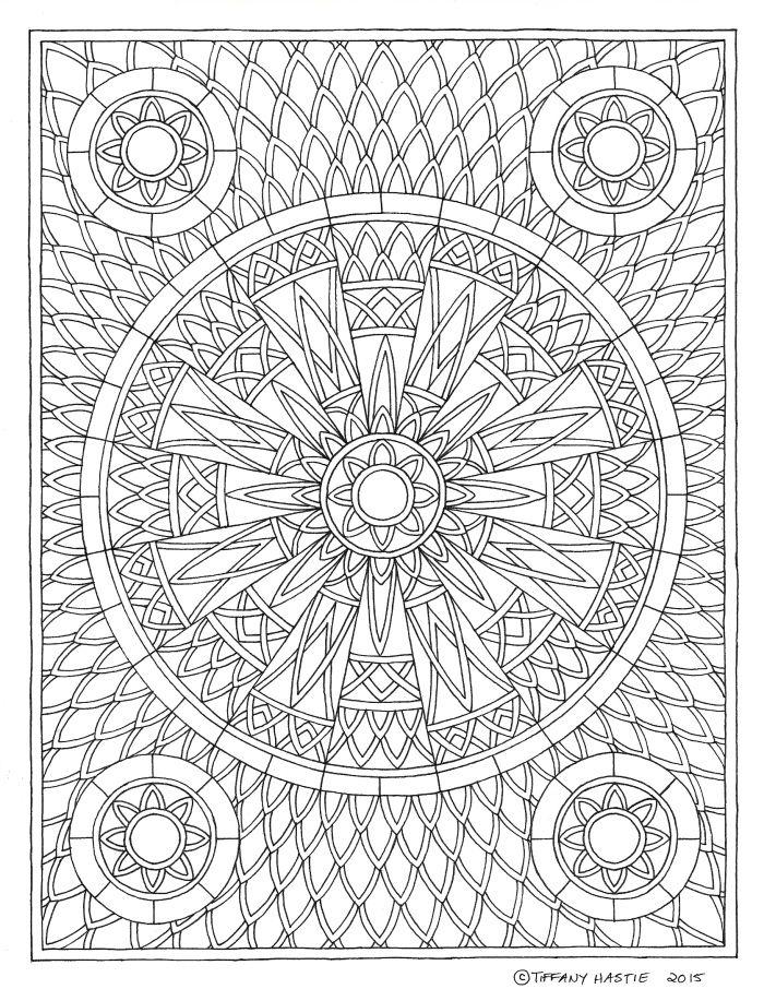 square mandala coloring pages - photo#10