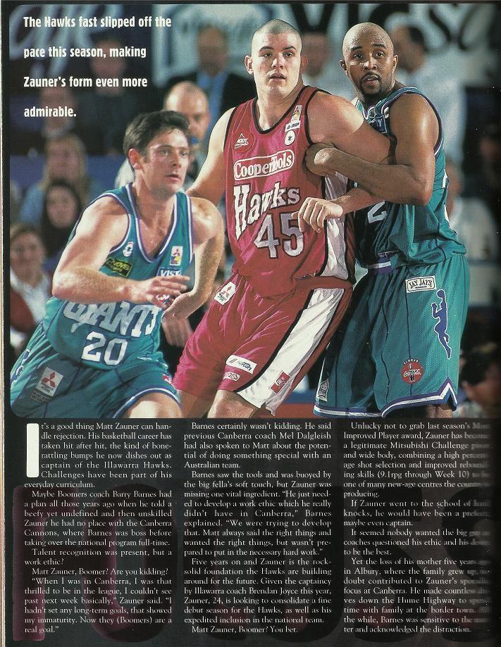 Matt Zauner article, One On One Magazine 1997