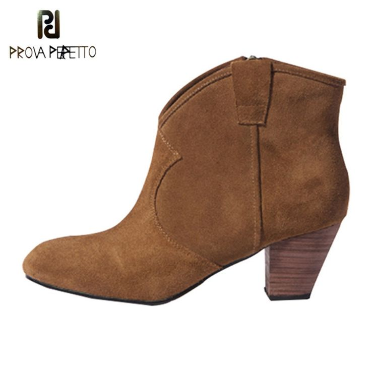 Prova Perfetto <b>Women Ankle Boots</b> 2019 Martin Boots Cow Leather ...