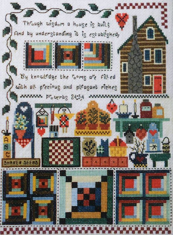 42 Best Cross Stitch Houses Images On Pinterest