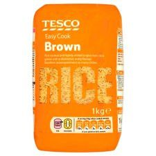Tesco Easy Cook Brown Rice 1Kg