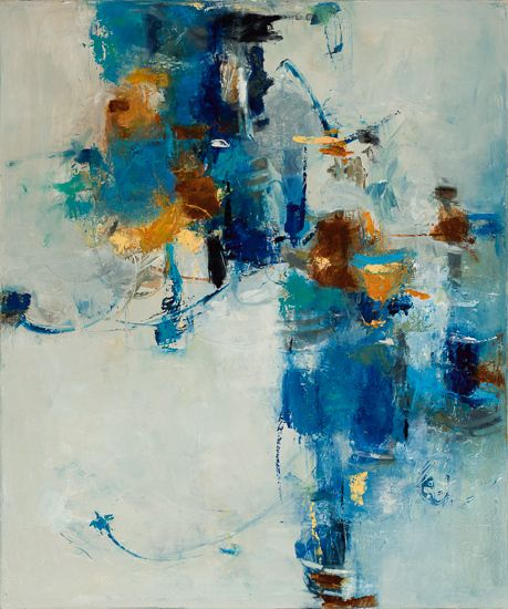 "Daily Painters Abstract Gallery: Contemporary Abstract Expressionism Art Painting ""Shazam"" by Abstract Artist Lela Kay"