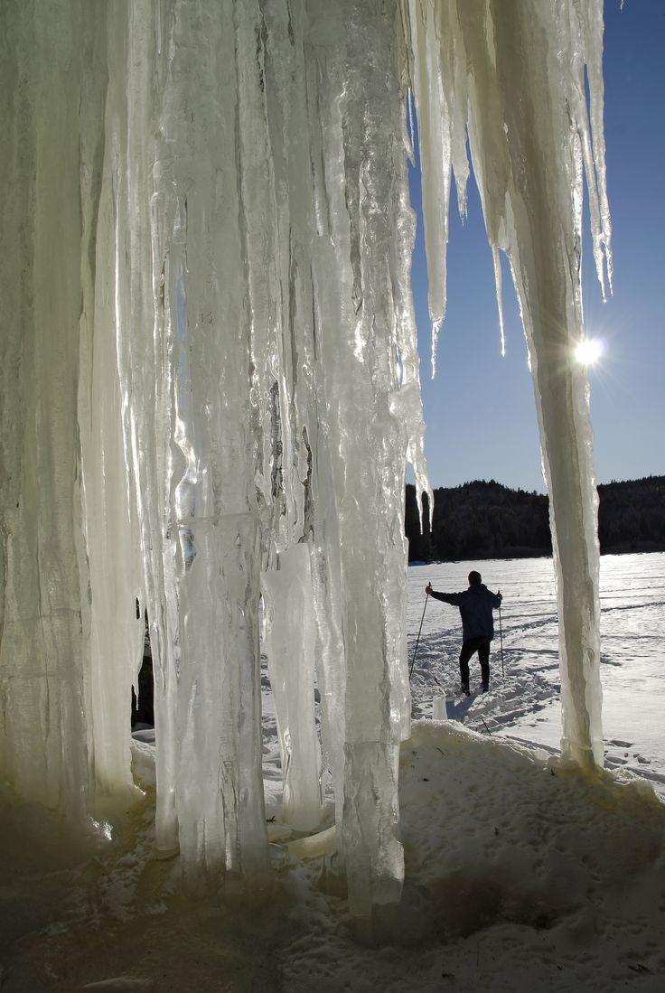 Une chute de glace, découverte en ski de fond. Photo: Serge L'Heureux / Liste des 20 plus beaux endroits pour pratiquer le ski de fond en Mauricie: http://blogue.tourismemauricie.com/plein-air-et-nature/ski-de-fond-en-mauricie-20-beaux-endroits-pour-pratiquer-le-ski-de-randonnee.html