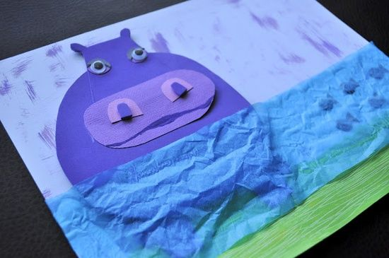 Hippo Craft Idea For Animals Unit                                                                                                                                                      More