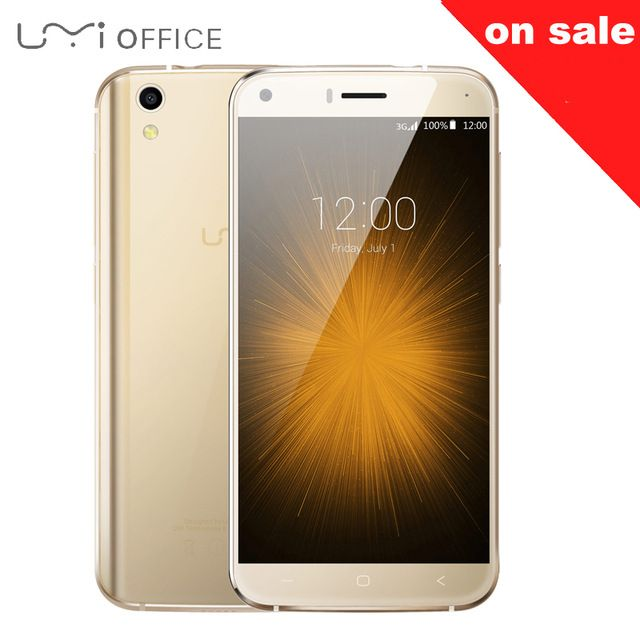 Umi Лондон MT6580 Смартфон Quad Core 5.0 дюймов HD Android 6.0 зефир 1280*720 3 Г WCDMA 1 ГБ RAM 8 ГБ ROM Прочный Мобильный Телефон