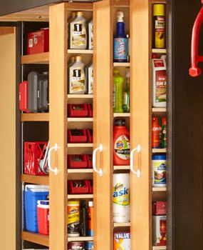 I need something like this for all the craft stuff I have accumulated in my basement.  Would be great for pantry too!