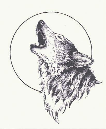 Wolf Moon Tattoo Small