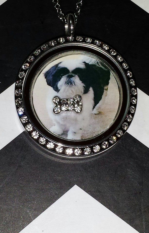 This adorable locket was personalized with a pic.