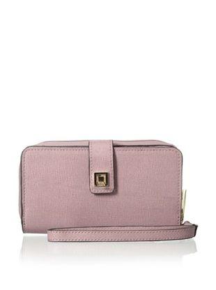 55% OFF LODIS Women's Saffiano Leather Tech Wallet, Rose