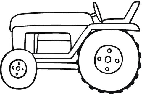 Small tractor coloring page from Special transport category. Select from 24104 printable crafts of cartoons, nature, animals, Bible and many more.