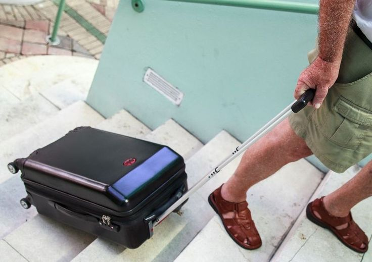 This suitcase is able to climb stairs