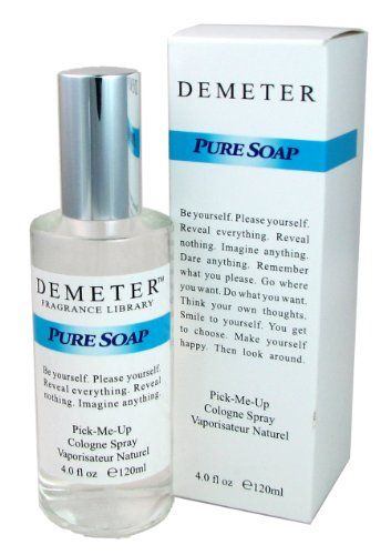 Pure Soap By Demeter For Women. Pick-me Up Cologne Spray 4.0-Ounce Bottle Demeter http://www.amazon.com/dp/B00152VYN4/ref=cm_sw_r_pi_dp_01pbub1NYP8AN