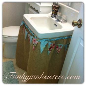 Just Look At This Fun Way To Cover Up Ugly Exposed Sink