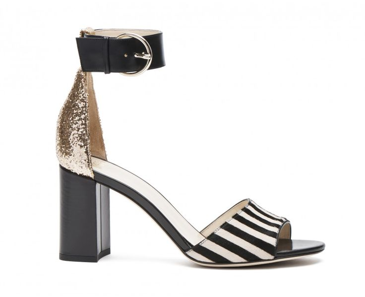 Blanche striped print haircalf stacked heels in camel stripes. Designed by  Kate Spade for Frances. Flat Heel BootsPopular ShoesStripe ...