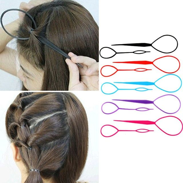 2 Pcs Simple Magic Hair Twist Styling Tool Plastic Hairstyle Braid Makeup Tool Accessories Popular Ponyt Twist Hairstyles Magic Hair Hair Accessories For Women