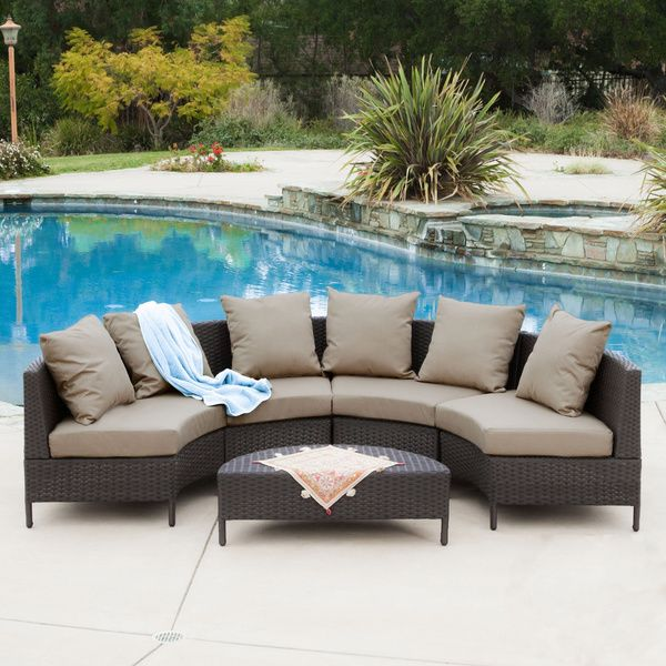 Christopher Knight Home Newton Outdoor Dark Brown Wicker Lounge Set    Overstock™ Shopping   Big Discounts On Christopher Knight Home Sofas, Chairs  U0026 ...
