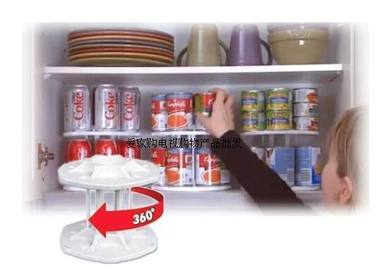 rotating kitchen cupboard can holder - Google Search