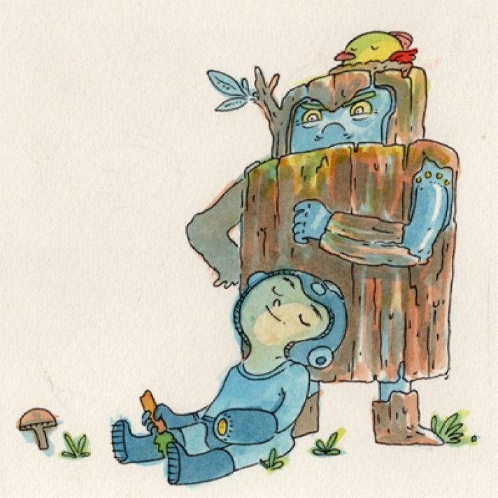 My favorite MM Master Robot, Wood Man!