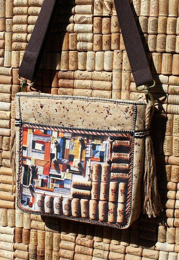Faux cork beige bag cork art pattern ladies handbags cork