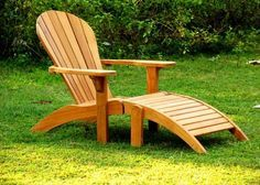 Gotta love a chair that forces you to relax~ Teak Adirondack Chair Plans