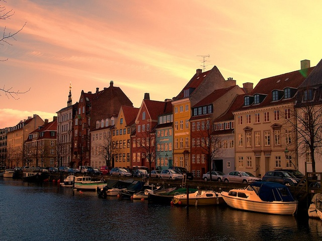 Sunset at Christianshavn, Copenhagen by serge y., via Flickr