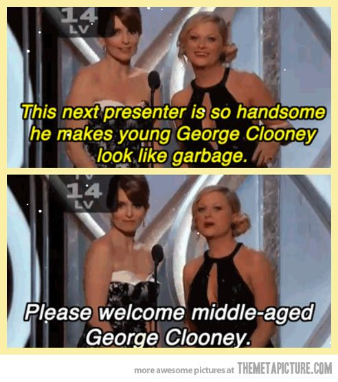 He makes young George Clooney look like garbage…