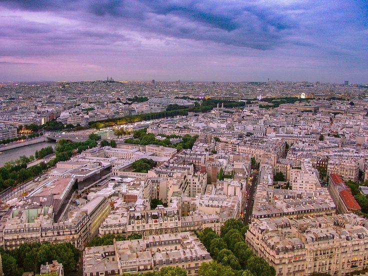Paris, Visning, Eiffel, Tårn, By, French, Bylandskab