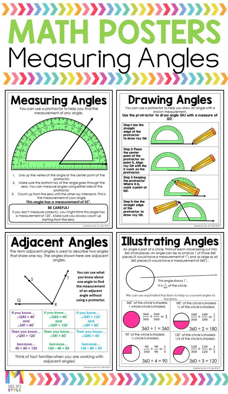 4th Grade Math Posters 4th Grade Math Math Poster Math Anchor Charts [ 1273 x 736 Pixel ]