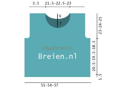 Topje Breien van katoen - Ouderwets Breien #topje #breien #gratis #breipatronen
