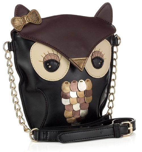 My Owl Barn: Accessorize: Yenzi Owl Cross Body Bag.....owl obsessed since I started working with kids years and years ago <3