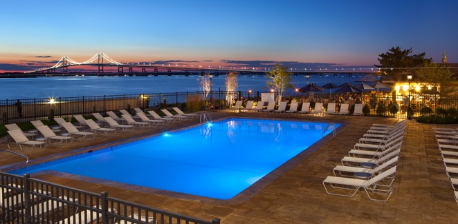 Take a dip in the pool with a view at the Hyatt Regency Newport Hotel and Spa