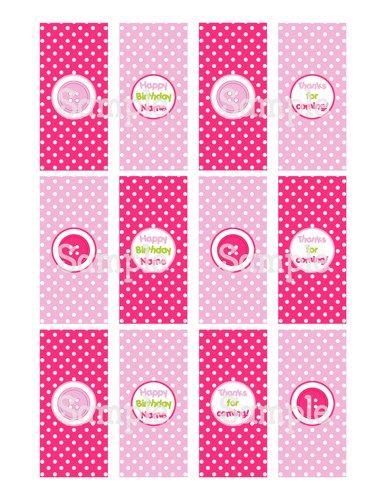 Printable Sew Cute Lala Buttons Mini Hershey's Candy Bar Wrappers | aMerAZNStyLe - Digital Art  on ArtFire