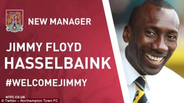 Northampton Town have confirmed Jimmy Floyd Hasselbaink as their new manager