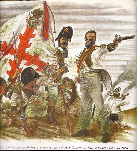 El regiment de Burgos a la batalla de Buvierca, 1808 (F. Vela)