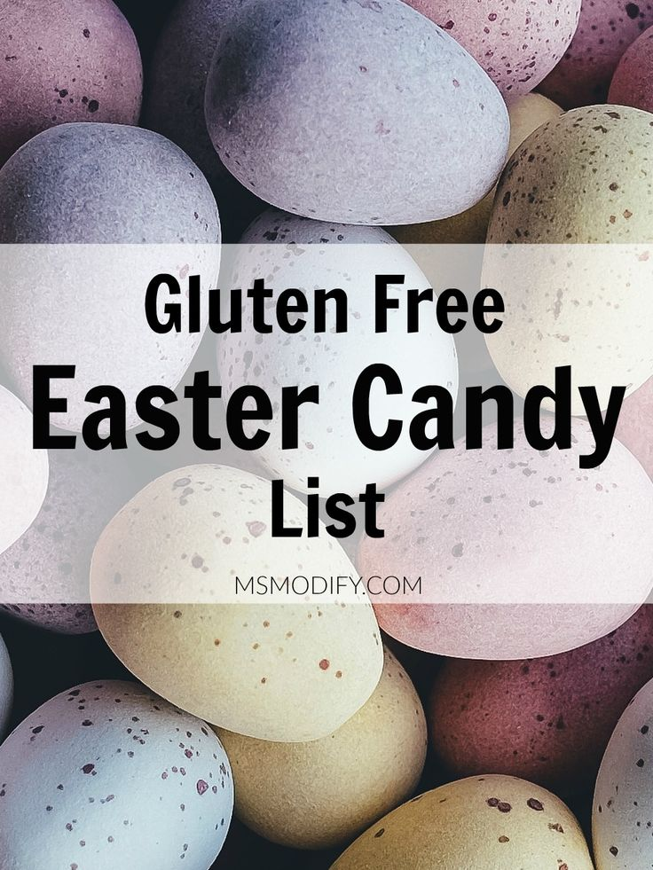Gluten Free Easter-themed candy list