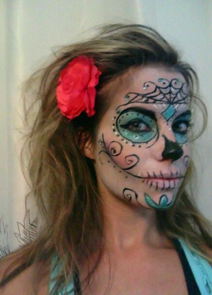 sugar skull, halloween makeup